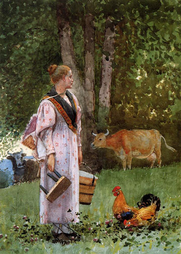 The Milk Maid, by Winslow Homer